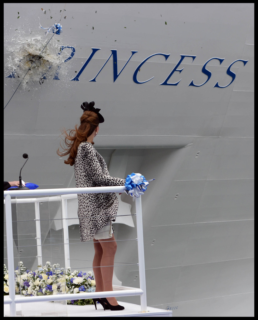 Kate Middleton - Kate Middleton Christens a Cruise Ship — Part 2