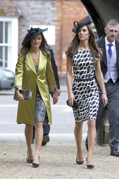 Kate and Pippa Middleton at the wedding of Sam Waley-Cohen and Annabel Ballin