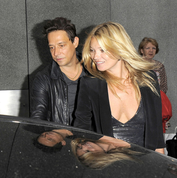 Kate Moss Supermodel Kate Moss and Husband Jamie Hince are seen attending the Jake & Dinos Chapman exhibition in London.  The newlywed couple have been reported to have returned from their honeymoon on a 206-foot superyacht named Lionheart.
