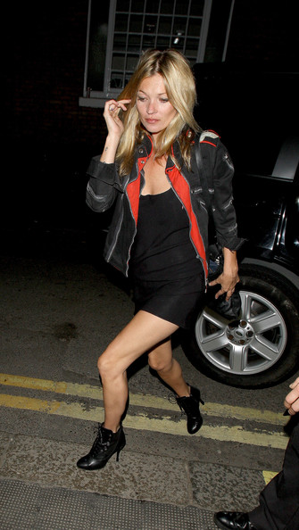 Kate Moss Leaving The Ivy Club In London At 2am Zimbio