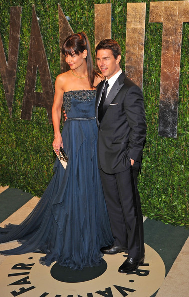 Katie Holmes Tom Cruise and Katie Holmes attending the 2012 Vanity Fair Oscar Party held at the Sunset Towers Hotel, West Hollywood.