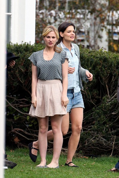 She films with Anna Paquin. - Katie Holmes' Celebrity ... Katie Holmes Friends