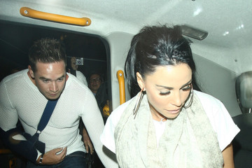 Katie Price Celebs Out Late in London