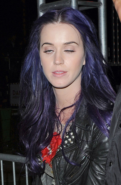 Katy Perry Purple Hair Photoshoot