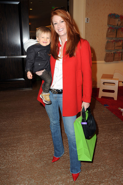 Angie Everhart and son Kayden attend Jayeoni Moore's pre-Oscar Studio gifting suite
