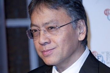 Kazuo Ishiguro Steven Willey at the BFI London Film Festival Awards during the 56th London Film Festival at Banqueting House in London