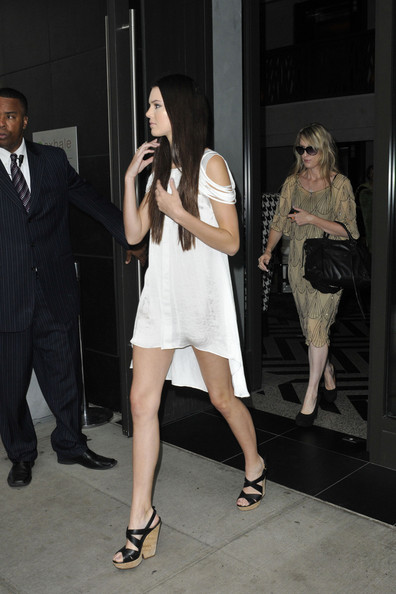 "Kendall Jenner Monday September 12. 2011. Kendall Jenner, star of ""Keeping Up with the Kardashians"" arrives at her hotel in New York City. Kendall joins her sisters in New York city where the two (Kourtney and Kim) are currently living with their husbands and filming a new season of their spin of reality show ""Kourtney and Kim Take New York."