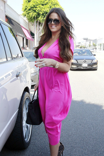 dress for sister's Kim Kardashian's wedding Khloe was seen shopping