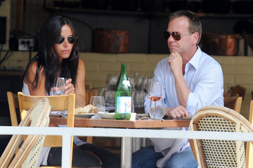 Siobhan Bonnouvrier Kiefer Sutherland Gets Lunch in the West Village 2
