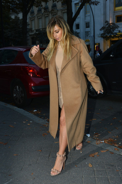Kim Kardashian goes out to lunch in Paris on October 1, 2013.