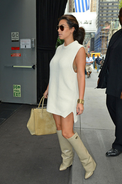 Kim Kardashian - Kim Kardashian in a Knit Dress