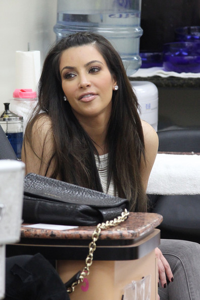 Kim Kardashian At A Nail Salon