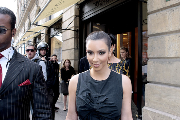 Kim+Kardashian in Kim Kardashian and Kris Jenner Out in Paris