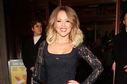 Kimberley Walsh attends the after party following the press night for 'Relatively Speaking' at Wyndhams Theatre in London