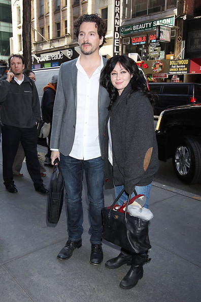 Shannen Doherty and Kurt Iswarienko Out in NYC