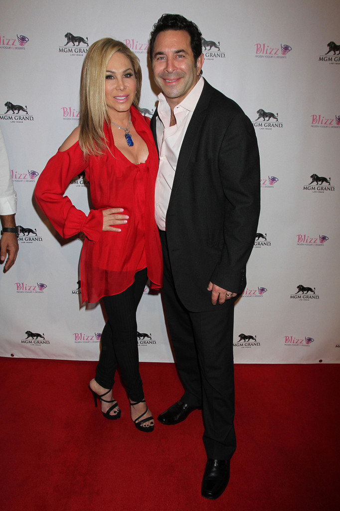 Adrienne Maloof in Reality Stars at the Opening of Blizz Frozen Yogurt in Vegas - Zimbio