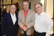 (L to R) Ronald O. Perelman, Conductor Valery Gergiev and Sir Clive Gillinson attend the National Youth Orchestra of The United States of America Reception at the The Royal Albert Hall hosted by Ronald O. Perelman in London.