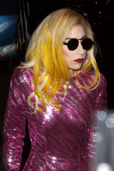 lady gaga yellow outfit