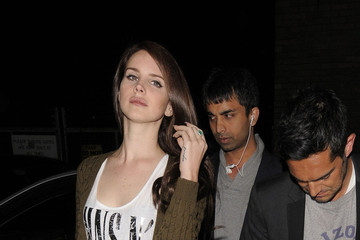 Guns N' Roses Lana Del Rey Lana Del Rey still showing her love for Guns n' Roses as she arrives at Shoreditch House after performing in London