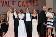Emma Watson, Claire Julien, Israel Broussard, Katie Chang and Taissa Farmiga arriving for the screening of 'Jeune et Jolie' during 66th Cannes International Film Festival at Palais des Festivals in Cannes.