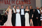 Emma Watson, Claire Julien, Israel Broussard, Katie Chang, Sofia Coppola and Taissa Farmiga arriving for the screening of 'Jeune et Jolie' during 66th Cannes International Film Festival at Palais des Festivals in Cannes.