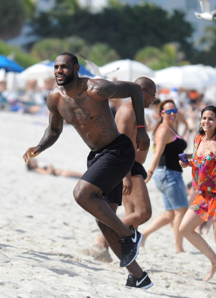 LeBron James Photos Photos - LeBron James Films a Nike ...