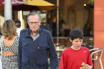 Larry King Larry King and His Son Cannon in Beverly Hills
