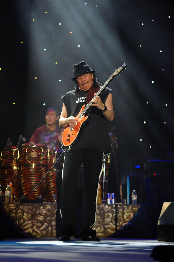 carlos santana in carlos santana plays at the manchester arena zimbio. Black Bedroom Furniture Sets. Home Design Ideas