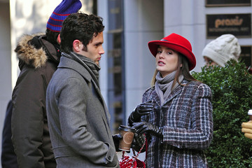 Blair Waldorf 'Gossip Girl' Stars on Madison Avenue in New York City