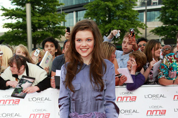 Georgie Henley Red Carpet at the National Movie Awards in London