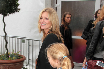 Lila Grace Moss Kate Moss and Her Daughter at London Fashion Week