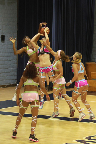"The Lingerie Basketball League - billed as ""Where Beauty Meets the Hardwood""!. The newly-formed Californian league of lovlies meet once a week as they head towards their league final in September."