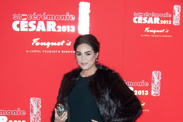 Lola Dewaere Claudia Cardinale at the gala dinner following the 38th Cesar ceremony at Fouquet's restaurant in Paris
