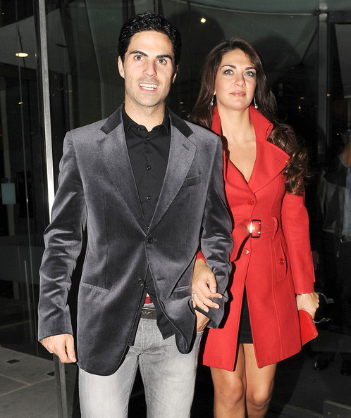 Lorena Bernal Arsenal football player Mikel Arteta and Lorena Bernal spotted at the Arsenal Christmas party held at the Hilton hotel on Park Lane for dinner. Later the lads continued the celebrations at Whisky Mist night club till 3am, London.