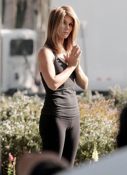 lori loughlin photos photos lori loughlin films a yoga scene for
