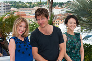 Ludivine Sagnier, Thomas Vinterberg and Zhang Ziyi attend the photo call for the Jury for the 'Un Certain Regard' selection during The 66th Annual Cannes Film Festival at Palais des Festivals in Cannes.