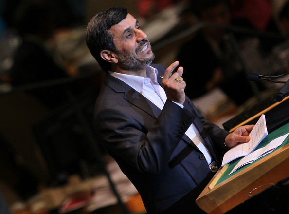 Mahmoud Ahmadinejad - President of Iran Mahmoud Ahmadinejad speaks at the General Debate of the 66th General Assembly of the United Nations, held at the U.N. headquarters midtown Manhattan