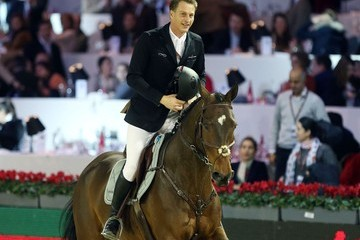 Marc Houtzager Celebs at the Gucci Show Jumping Grand Prix