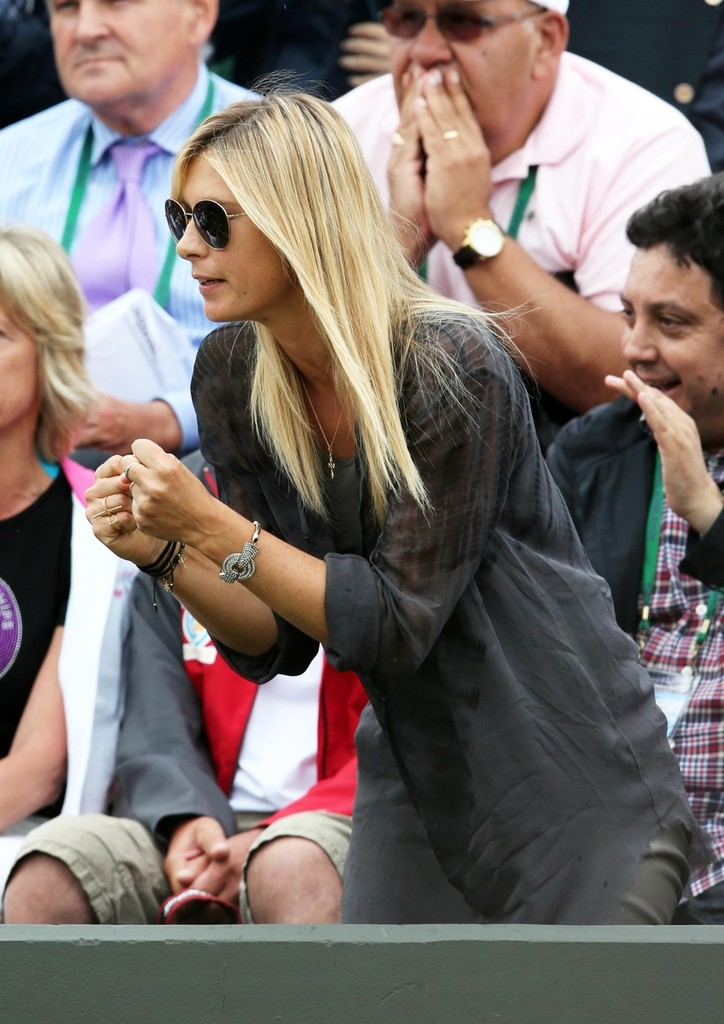 Maria Sharapova Photos Photos Maria Sharapova Cheers On