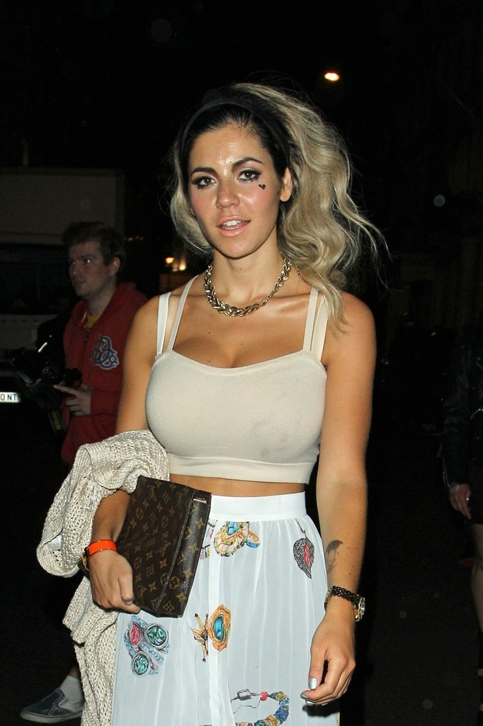 Marina Diamandis in Marina Diamandis of Marina and the Diamonds leaves The Arts Club in Mayfair ...