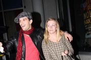 """Mark Ballas and Melissa Joan Hart share a giggle as they leave Ivan Kane's Cafe after a night out with the """"Dancing with the Stars"""" gang."""