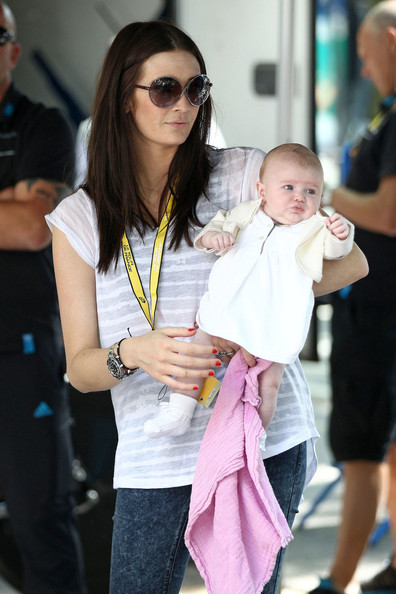 English Model Peta Todd Friend Of Manx Rider Mark Cavendish Holds Onto Their Baby