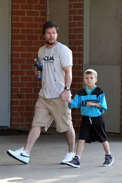 mark wahlberg photos photos mark wahlberg goes to his son s game