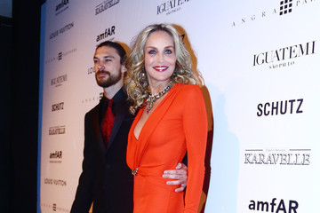 Martin Mica Alinne Moraes at the amfAR Inspiration Gala against AIDS in Sao Paulo, Brazil