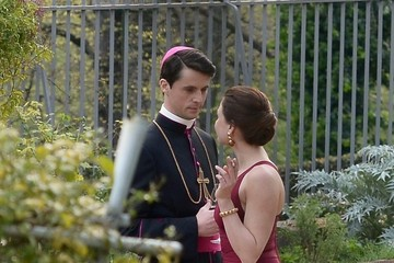 Matthew Goode 'Vatican' Mini-Series Films in Rome