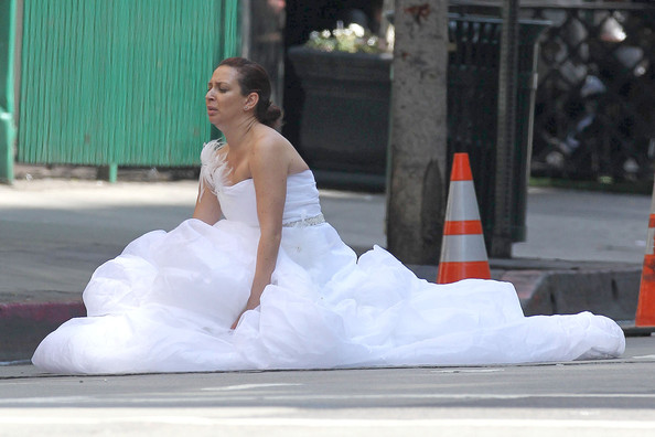 "Maya Rudolph and Kristen Wiig Film ""Bridesmaids"""
