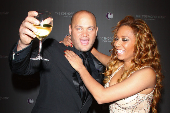 Melanie Brown Mel B and her husband Stephen Belafonte get into the spirit of celebrating New Year in Las Vegas! The pair were at The Cosmopolitan Grand Opening and New Year's Eve Celebration with Jay-Z and Coldplay at Marquee Nightclub in The Cosmopolitan hotel.