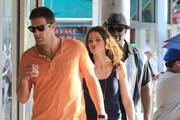 "Michael Clarke Duncan, Geoff Stults, and Saffron Burrows film scenes for ""The Locator"" in South Beach. The show is a spinoff of the hit Fox show ""Bones""."