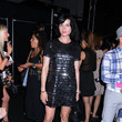 Michelle Hicks MBFW: Arrivals at Anna Sui
