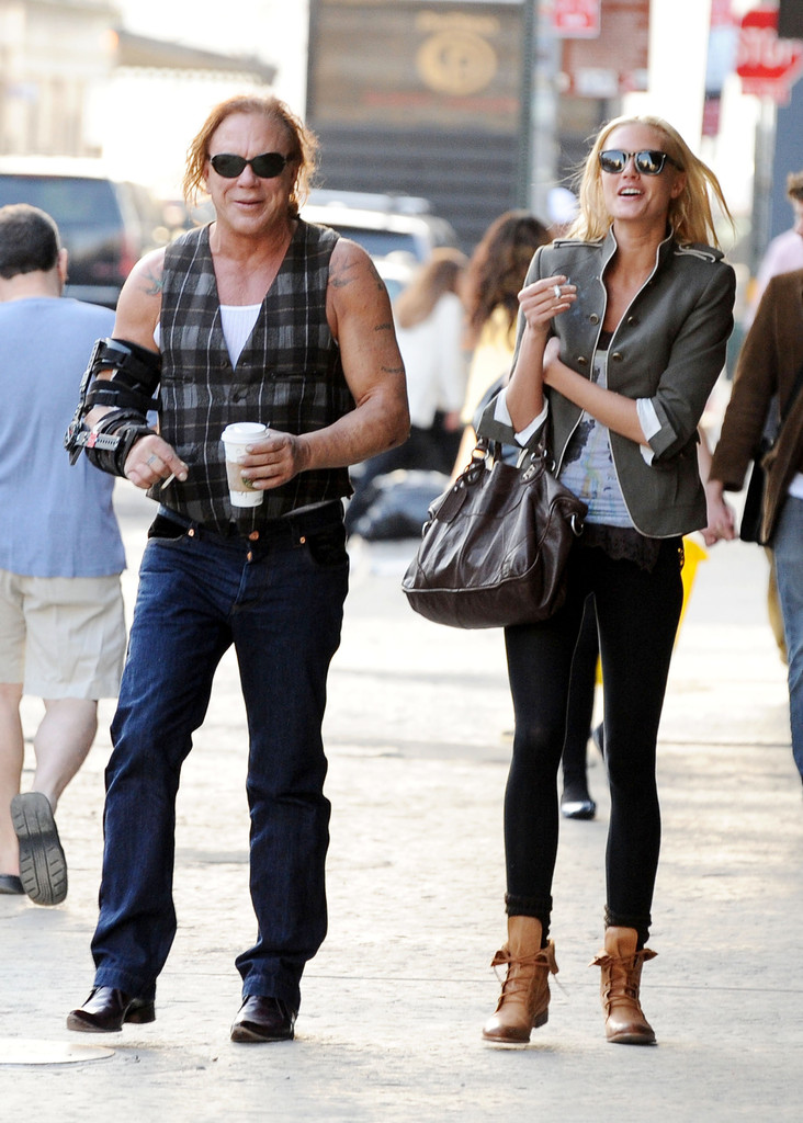Mickey Rourke and Anas...